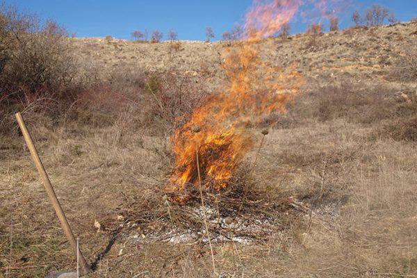 Prohíben quemas de restos en cultivos agrícolas en áreas de monte